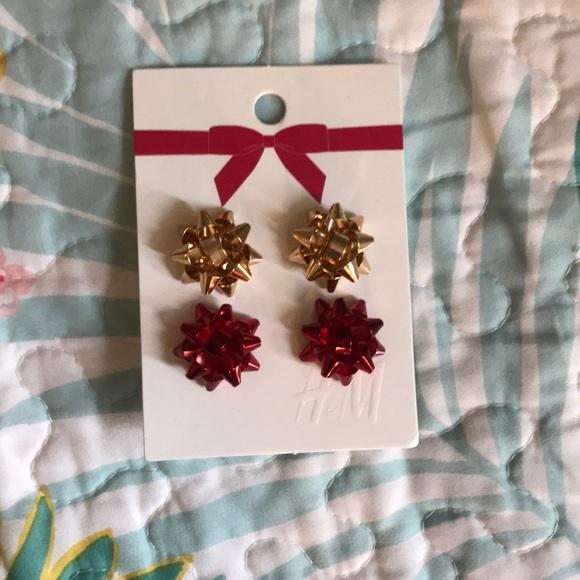 Christmas Ribbon Earrings